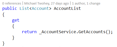 Account list definition